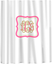 Custom Shower Curtain -Simplicity with monogram in your colors - any color backg image 3