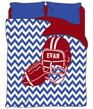 Personalized Football Chevron Theme Duvet ONLY - Personalized with your ... - $139.00