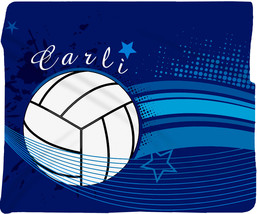 Volleyball Super Plush Fleece Blanket - Any Color- PERSONALIZED - $65.00