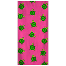 Custom Personalized Beach Towel -  Preppy Green Turtles on Hot Pink Patt... - $40.00