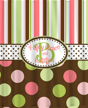 Brown Multi Stripes and Dots Shower Curtain -Standard style stripes and ... - $78.00