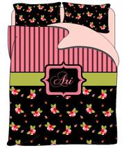 Cottage Rose Custom  Duvet Cover  & Shams - Varying Shades of Roses -Tw,TWXL, Qu - $139.00