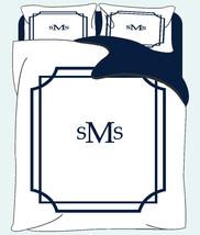 Simplicity Mitre Corner Duvet & Shams- Queen size - Your Choice of Colors - $139.00