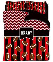 Red & Black Football Duvet Colors Arkansas or Bulldog Inspired - Personalized wi - $139.00