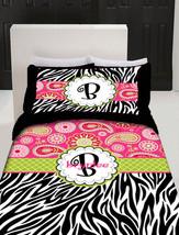 Personalized Custom  Paisley and Zebra Bedding Duvet Cover and pillowcovers - Av - $139.00