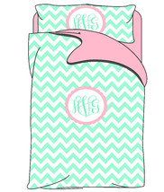 Personalized Custom Chevron Bedding Duvet Cover and Sham- available any color -  - $139.00