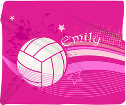 Volleyball Super Plush Fleece Blanket -Hot Pink- PERSONALIZED - £49.87 GBP