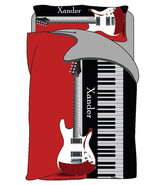 Personalized Custom Rock N Roll Guitar Duvet Cover and Pillowcovers -Twi... - $169.00