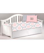Daybed TWIN Custom Duvet Cover and Pillowcover Sham - Shown in Pink, Gre... - $179.00