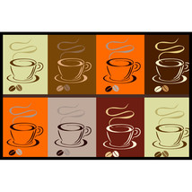 Coffee Theme Floor Mats -Size 48x30, 60x48, 96x48, 96x60 inches- Can be ... - $69.99
