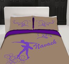 Ballet Monogram Duvet Bedding - Personalized - Any Color - $139.00