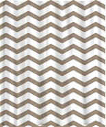 Custom Colors Shower Curtain -Chevron and white design or ANY color of y... - $78.00