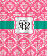 Custom Personalized Damask Shower Curtain - Shown in Berrylicious Pink a... - $78.00