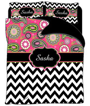 Custom Personalized Trendy Paisley & Chevron Du... - $139.00