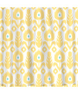 Custom IKAT Chevron Shower Curtain - Any Color - shown  Yellow-Wht-Turq,... - $78.00