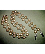 HAndmade necklace  GLasses HOLDER CHANPAGNE  PEARLS Mother's GIFT - $18.80