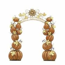 Zaer Ltd. Large Metal Halloween Archway Arbor (Stacked Pumpkins Happy Ha... - $2,995.00