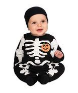 Babys Black Skeleton Halloween Costume - £17.18 GBP