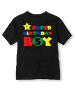 Super Birthday Boy Birthday Shirt, Personalized Super Mario Birthday Shirt - $11.99