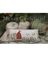 Merry Christmas holiday cross stitch chart With Thy Needle Brenda Gervais - $12.00
