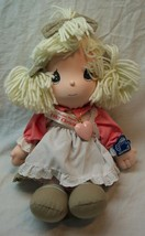 "Applause Precious Moments 1992 CHRISTMAS GIRL DOLL 15"" Plush STUFFED DOL... - $19.80"
