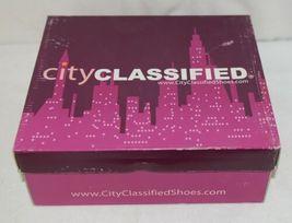 City Classified Layka S Black Sandal Wedge Heel Size Six image 8