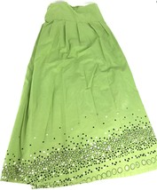 Covington Womens Full Length Cotton Embellished Skirt 24W Green - $16.99
