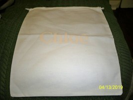 Chloe' 12 x 14 Storage Pouch, Dust Bag, Purse Holder, Drawstring, White - $11.87