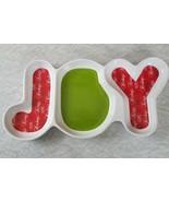 Hershey's Kisses Joy Christmas Serving Platter Plate Ceramic Hope Peace - $15.84