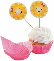 Sunshine Cupcake Wrappers W/picks for Birthday (100 Pack) Party Supplies - $8.54