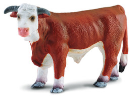 Breyer CollectA 88234 Hereford bull not polled  exceptional miniature <> - $8.70