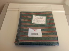 "Longaberger Table Overlay 36"" Imperial Stripe / Holly Reversable 268417 New - $29.65"