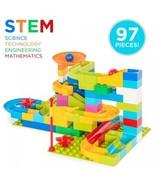 97 Pieces! Building Block Marble Run Puzzle Game - $39.10
