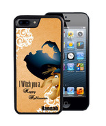 PERSONALIZED CASE FOR iPHONE X 8 7 6 5 SE 5C PLUS RUBBER WITCH HAPPY HAL... - $13.98
