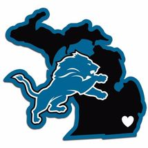 NFL Detroit Lions Home State Auto Car Window Vinyl Decal Sticker - $4.95