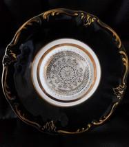 Vintage Royal Heidelberg Winterling Bavaria black teacup saucer - $9.89