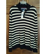 Mens XL Tommy Hilfiger Meteorite Stripe Mock-Collar Sweater - $26.35