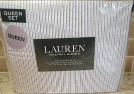 Polo Ralph Lauren Queen Sheet Set YELLOW BLUE WHTE BLACK STRIPES FREE GIFT - $79.15