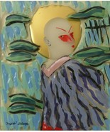 """Rosenthal Limited Edition Annual Painting on Glass """"Mephisto"""" by Salomé ... - $299.00"""