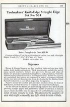 Toolmakers Squares Knife-Edge Straight Edge 1941 Brown Sharpe Tools Cata... - $14.99