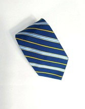 Brooks Brothers Makers Cotton Silk Blend Yellow Blue Striped Jacquard Wo... - $13.85