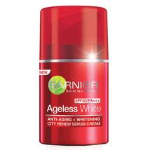 Garnier Ageless White Anti Aging Whitening City Renew Serum Cream SPF30 50ml - $20.74