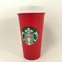 Starbucks Red Grande Cup Coffee Hot Lid PlasticReusable  16oz Coffee Te... - $10.89
