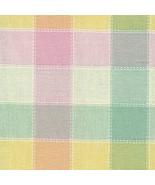 Longaberger Basket Garter Medium Size Easter Pastel Plaid Fabric Garter ... - $11.83