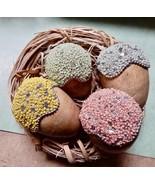 """Easter Spring Handmade Wooden 3"""" Beaded Eggs & Bird Nest NIB Table Decor... - $18.99"""