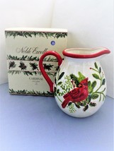 Cardinal Pitcher 3 Qt. By Noble Excellence - Glazed Earthenware - Bird D... - $20.90