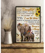 Pallet Mom To Daughter I Am The Storm Elephant, Art Print Poster For Hom... - $25.59+