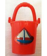 Vintage Barbie Tutti Chris Sand Castles #3603 Red Sand Pail Bucket  52-16 - $25.00