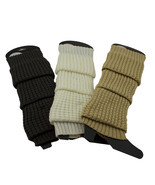Winter Crochet Warm Ribbed Boot Leg Warmers Knee Length Winter Knit Boot... - $7.66+