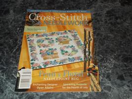Cross Stitch & Needlework Magazine July 2006 Fruit and Floral Rug - $2.96